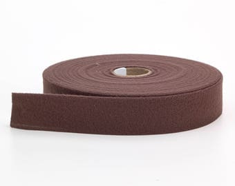 "Quilt binding, brushed, 2"" fold in half, finish 1"", 25 yds, Chocolate"