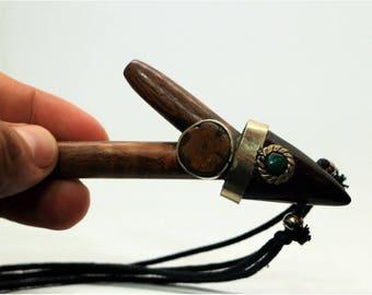 Amazon shamanic snuff kuripé applicator pipe of palisangre