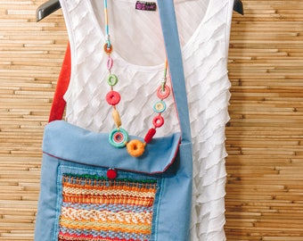 Boho Denim Messenger Woman Bag