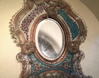 Micromosaico - mosaico in vetro - specchiera in vetro di murano - specchiera in micromosaico - murano glass - vetro di murano