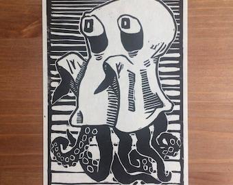 Costume | Linocut Print