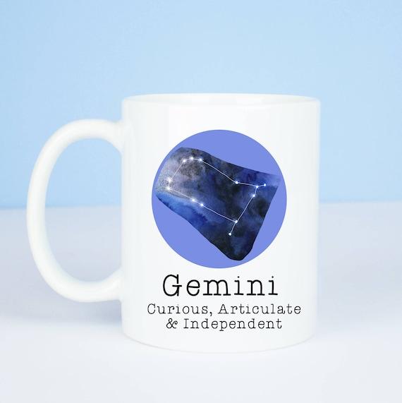 Gemini mug, Personalised back, lovely star sign Gemini mug, May 21 to June 21