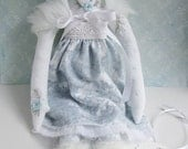 Embroidered cloth winter woodland doll Nora OOAK