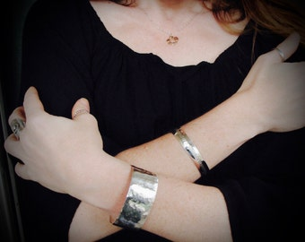 chizel ... hammered sterling silver cuff