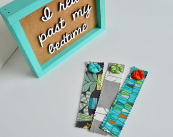 Gift for Girls - Fabric Bookmarks - Bookmarks - Girls Bookmarks - Teacher Gift- Book lover gift - Reading Nerd - Book Club - Cactus Bookmark