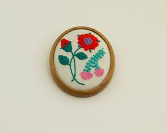 Hand embroidery brooch by ArtBASE - OOAK