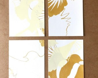 A2 - Art Post Card Set X 4 - Birds In Flight