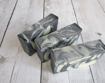 Facial Soap - Bentonite Clay and Activated Charcoal - Vegan - For Normal to Oily Skin - Dye Free - Unscented Soap - Natural Beauty