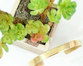 Light Textured Hand Stamped Metal Brass Cuff Bracelet