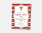 Pizza Party Invitations -...
