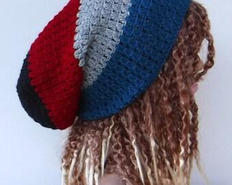 Large slouchy beanie, snood tam, dreadlock rasta tam, slouchy hat, slouchy beanie, slouchy hat, women man beanie for dreads, dread tam hat