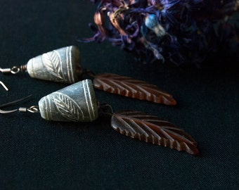 Feather Totem Tribal Bell Earrings