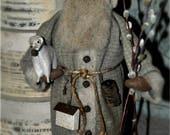 Folk Art, Primitive, Handmade Santa... Olde Spring Thyme Santa