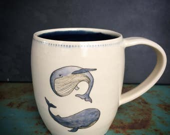 Whale mug - READY TO SHIP
