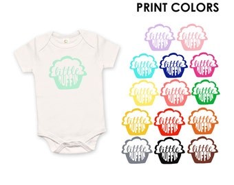 Little Muffin Organic Cotton One Piece Romper - Family Photos, infant, Expecting, New Baby, Baby Shower, Bun in the Oven
