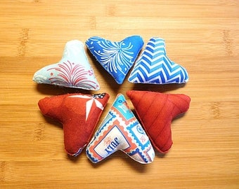 New Firework Hearts, Ornaments, Bowl Fillers, Independence Day Decorations