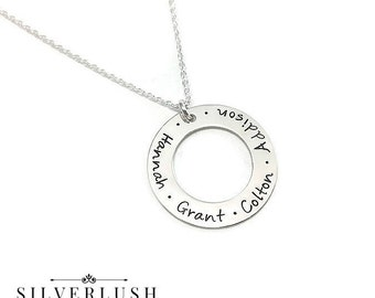 Custom Family Jewelry - Hand Stamped Sterling Silver Necklace