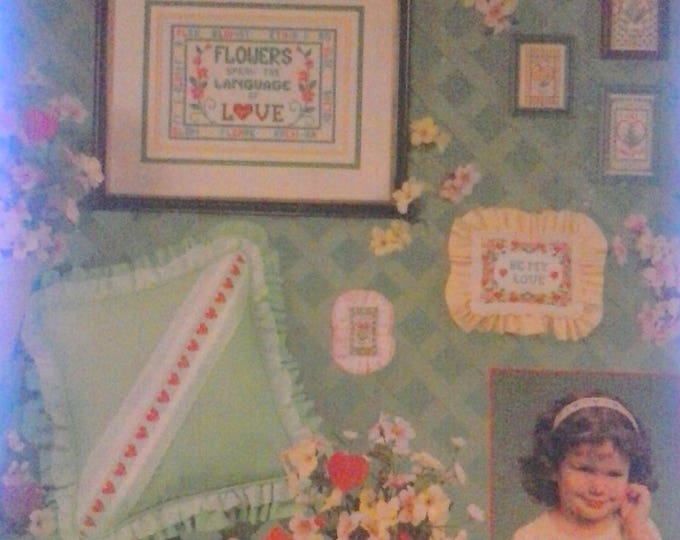 LA 230 (1992), Hearts & Flowers charted for cross-stitch