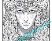 Single Coloring Page - Druid Priestess from the Magical Beauties Collection - Download, Print & Color!