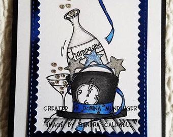 1290 New Years Cheers Digi Stamp