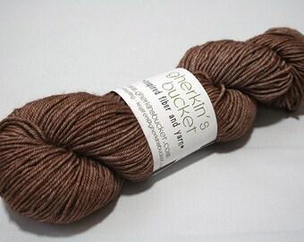 Hand Dyed Artisan Yarn, Tonal Kettle Dyed DK Yarn, Semisolid SW Merino Wool/Silk/Yak DK, Banter #22117