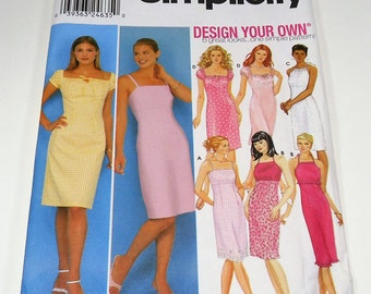 Simplicity Misses Design Your Own Dress Pattern 9557 Size 12, 14, 16, 18  Six Great Looks One Simple Pattern
