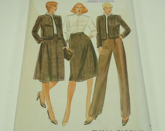 Butterick Misses' Jacket Blouse, Skirt And Pants Pattern 4015 Size 12 Evan-Picone