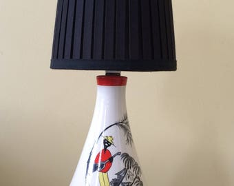 50s/early 60s ceramic lamp, rewired. Made in England.