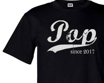 Pop tshirt, Fathers Day gift, grandpa shirt, screen print t-shirt, Pop since ANY year, personalized for him, graphic tee