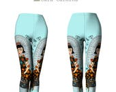 Capris - Leggings - Frida Papillon - Frida- Cara Carmina - Butterfly - turquoise