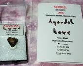 Meteorite LOVE AGOUDAL Natural Heart Shape Meteorite In Medium Large Display Box With Meteorite Writing Card Found 2000 Morocco