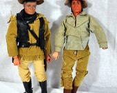 Vintage 1973 Lone Ranger and Tonto Action Figures by Gabriel