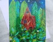 CARD - Woodland Cabin
