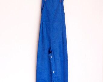 Vintage childens overalls blue corduroy nos size 3t 4t