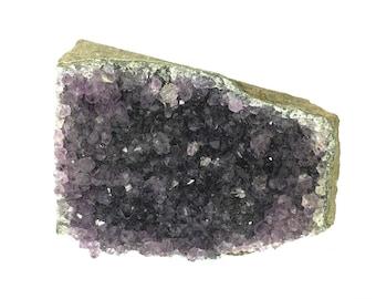 Uruguayan Amethyst Crystal Cluster: Ct. High Grade Dark Blue-Purple Color, Healing Gemstone Geode Points