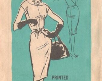 1960s Prominent Designer M339 Alice Schweitzer Supple Sheath Dress Pattern Womens Vintage Sewing Pattern Size 14 Bust 34