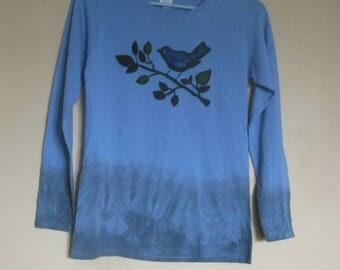 BLUEBIRD Airbrushed Longsleeve Cotton T-Shirt