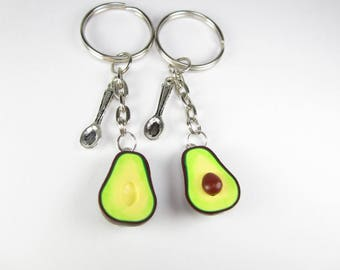 Best Friend gift, Best friend, BFF Avocado Friendship Keychain, best friend keychain, best friend, key chain, vegan, friendship keychain