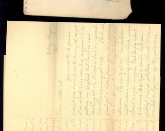 1915 Halsey Oregon Long Letter Farm Fight Oyster Avoiding Teacher Stamp Cover P20