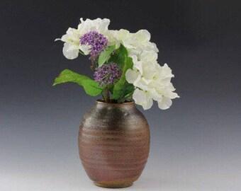 Woodfired pottery vase