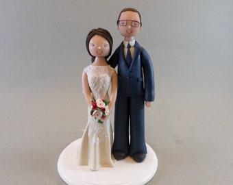 Custom Handmade Wedding Cake Topper