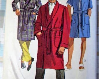 1960s Men's Robe Sewing Pattern - Medium 38-40 - Simplicity