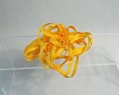 "Vintage yellow ribbon,  1/4"" x 5 yards, perfect for antique doll clothing, needlework projects, beautiful golden yellow"