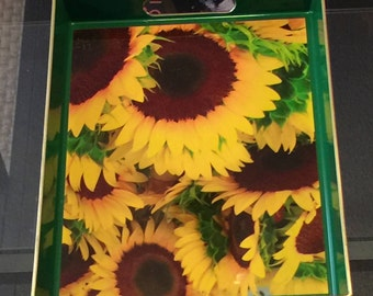 Sunflower - Tea Tray /Mother's Day / Housewarming/ Home Decor/ Gift under 50