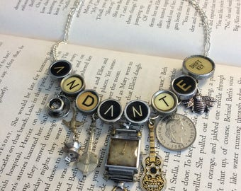 Typewriter Key Necklace