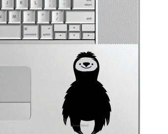 Sloth laptop decal, small vinyl decal, happy sloth sticker, decal for cups, water bottle decal, happy lazy sloth wall decal, small size 5x3