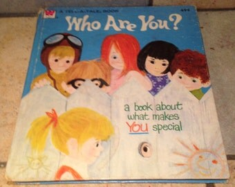 1966 Who Are You? Tell a Tale Book by Whitman