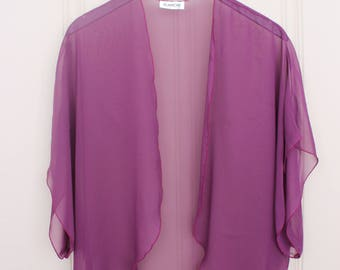 Vintage Sheer Shrug by Blanche - Plum - Size Medium