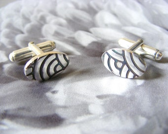 Art Deco Fine Silver Cufflinks
