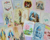 Blessings and Wishes in Large Vintage Religious and Inspirations Greeting Cards All Occasion Lot No 134 Lot of 15